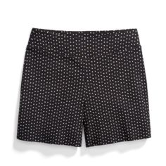 Shorts for Pear Shape. I like the wide waistband, shape, and length of these shorts. I do not like the geometric print. Are they offered in a petite floral pattern or a plain color?