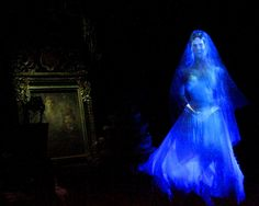One of my favorite scenes in the Haunted Mansion.  How can a Bride be so scary?!