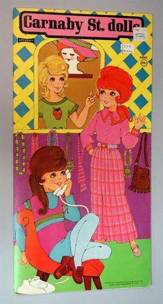 Un Cut Paper Doll Book Carnaby St Dolls 1973 Saalfield Mod Fashions Hairdos | eBay