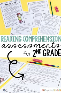 Reading comprehension tests for second grade! Love how these assessments are formatted to match the state tests my kiddos will face later, but have high interest topics and appropriate questioning for my second graders!