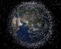 Earth surrounded by space junk ...another prove of how much governments care about our health, future, ...life! But remember, there must have been sombody up high agreeing with not removing or even worse, placing that shit up there!!! Shame on you!!!