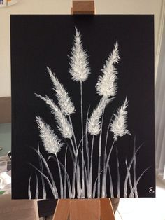 White Paint On Black Canvas - Black And White Painting For Big Blank Wall Could Do Black And Tips For Creating A Gallery Wall Black Canvas Paintings Black Black Canvas Art, Black Canvas Paintings, Easy Canvas Painting, Simple Acrylic Paintings, Diy Painting, Canvas Canvas, Canvas Ideas, Drawing On Canvas, Creative Painting Ideas
