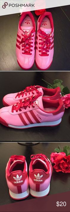 cae26cca2854 ... switzerland amazing pink and red adidas kids sneakers the pretties  color combo ever for adidas sneakers