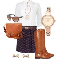 Classic fall outfit.