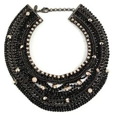 Iosselliani Black Stone Collar Necklace