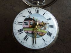 GEORGE III PAINTED DIAL POCKET WATCH Pocket Watch, Omega Watch, Watches, Accessories, Wristwatches, Clocks, Pocket Watches, Jewelry Accessories