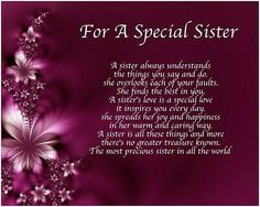 Personalised For A Special Sister Poem Birthday Christmas Gift Present 786071610200 Poems For My Sister, Sister Poems Birthday, Birthday Greetings For Sister, Birthday Verses For Cards, Message For Sister, Sister Love Quotes, Birthday Wishes For Myself, Birthday Wishes Quotes, Mothers Day Quotes