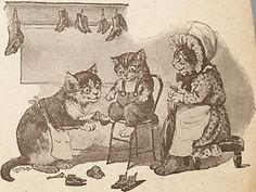 Poesje Mies. Lentz en de Haan, Utrecht 1890-1900 New shoes