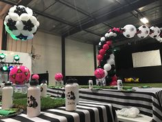 """Our """"goal"""" is to make any party or event a """"win"""" with your guests.  You imagine it, and we will create it!  #Balloons #BalloonsSimiValley #Soccer #SoccerParty #SoccerBalloons #PartyDecor #BalloonArch #SoccerBall #SimiValley #Moorpark #ThousandOaks #Arch"""