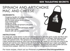 @Chicago White Sox Spinach and Artichoke Mac and Cheese recipe