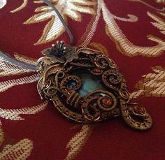 Classic Labradorite Wire Wrapped Pendant