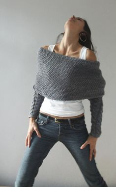 Knit.thing 03 Grey READY TO SHIP by NihanAltuntas on Etsy