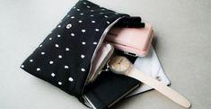 Une pochette toute simple à réaliser ! Pochette Portable Couture, Pochette Diy, Snap Bag, Diy Sac, Creation Couture, Couture Bags, Couture Sewing, Louis Vuitton Monogram, Sewing Crafts