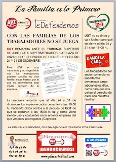 REDACCIÓN SINDICAL MADRID: Con las familias de los trabajadores no se juega