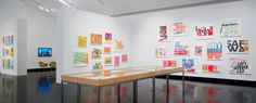 """""""Someday is Now: The Art of Corita Kent"""" 2013 Installation view Courtesy the Frances Young Tang Teaching Museum at Skidmore College / photo Arthur Evans"""
