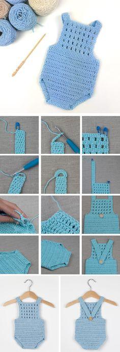 Crochet Baby Romper