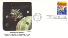 1916 Space Achievement Pioneer 11 Probing the Planets Fleetwood FDC First Day Covers, Planets, Space, Stamps, Floor Space, Seals, Postage Stamps