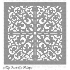 My Favorite Things MIX-ables Stencil, 6 by 6-Inch, Scrolled Background