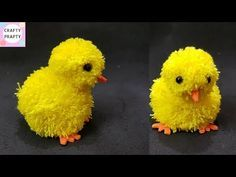 DIY Pom pom chicken / Pom pom Chick / Yarn Chicken /How to make Pom pom Chicken – Yarn Crafts Bunny Crafts, Easter Crafts For Kids, Unicorn Crafts, Pom Pom Crafts, Yarn Crafts, Diy Crafts, Pom Pom Animals, Pom Pom Wreath, Yarn Pom Poms