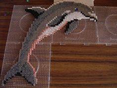 Dolphin hama beads by zoe94