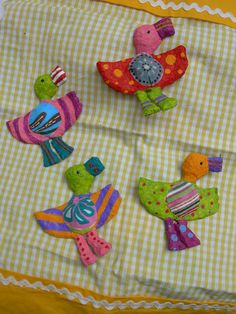 [Papel mache] Quatro patinhos | Flickr - Photo Sharing! Baby Ducks
