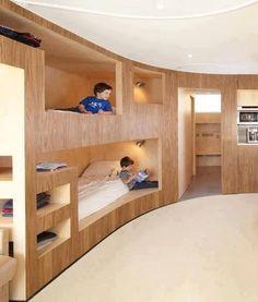 all aboard modern bunk beds Modern Bunk Beds, Cool Bunk Beds, Kids Bunk Beds, Modern Bedroom, Dream Rooms, Dream Bedroom, Kids Bedroom, Mini Loft, Cool Kids Rooms