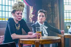 EASTENDERS star Natalie Cassidy looks worlds apart from Sonia Fowler in her new role in sitcom Mandy. The actress – who plays nurse Sonia in the BBC soap – will play a cockney crime boss in an episode of the BBC Two comedy. Diane Morgan, who will star in comedy she wrote as Mandy, says […] Sean Lock, Emily Dean, Emmerdale Spoilers, Linda Carter, Tv Gossip, Bbc Two, British Things, Hollyoaks, New Comedies