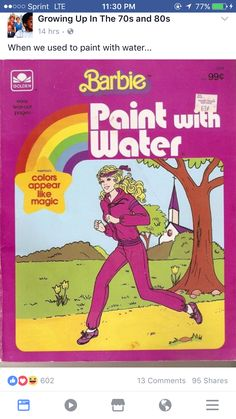 nostalgia Oh my goodness, Id forgotten about these for about two decades. Paint with Water colouring books were such a blast! 90s Childhood, My Childhood Memories, Sweet Memories, Oldies But Goodies, Karate Kid, 90s Nostalgia, 80s Kids, I Remember When, My Memory