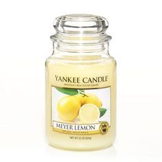 Yankee Candle Classic Large Jar Candle - Sicilian Lemon in One Colour Bougie Yankee Candle, Yankee Candle Scents, Yankee Candles, Scented Candles, Jar Candles, Green Candles, Aroma Candles, Homemade Candles, Candels