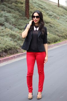 Black, Red & leopard all over