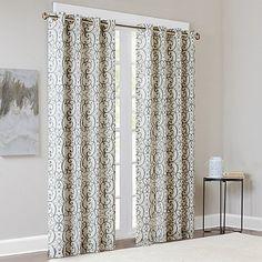 Madison Park Farrah Room-Darkening Grommet Top Window Curtain Panel