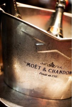 Moet & Chandon, Cristal, and Dom Perignon - the BEST champagne! Moet Chandon, Cheers, Le Croissant, Champagne Buckets, Champagne Drinks, Champagne Party, Cocktails, Paris Wedding, French Wedding