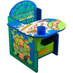 Walmart: Nickelodeon - Teenage Mutant Ninja Turtles Desk & Chair with Storage Bin Tmnt, Ninja Turtle Room, Storage Chair, Bedroom Storage, Delta Children, Teenage Mutant Ninja Turtles, Teenage Turtles, Toy Store, Kids Furniture