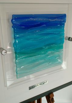Glass art memorial 'Seascape' by Ashes in Art