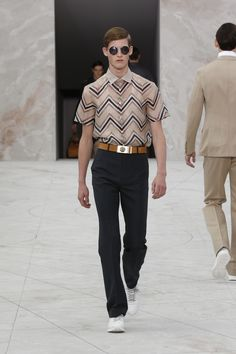 In love with this look. ❤️ Look 5 from the Louis Vuitton Men's Spring/Summer 2015 Fashion Show.