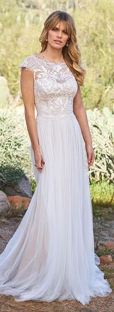 The Blushing Bride Boutique is one of the largest Retailers in Texas for Lillian West Wedding Gowns! You'll find in our Lillian West Collection an assortment of Ultra Boho Styles, Romantic … Garden Wedding Dresses, Dream Wedding Dresses, Boho Wedding, Bridal Dresses, Wedding Gowns, Lillian West, Sabrina Neckline, Wedding Gown Gallery, Wedding Dress Necklines