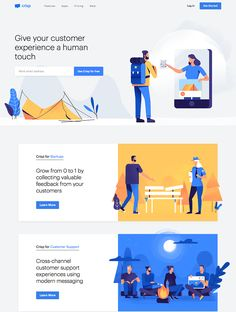 Crisp landing page design inspiration Lapa Ninja - Landing Page - Ideas of Landing Page - Crisp is the best way to chat with your website visitors. Add it on your website in 2 minutes and start increasing your sales! Design Web, Web Design Examples, Graphic Design Layouts, Web Layout, Design Styles, Layout Design, Best Landing Page Design, Best Landing Pages, App Landing Page
