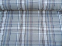 Curtain Fabric Highland Wool Tartan Blue/Beige Natural Check Plaid Upholstery curtains heavy upholstery furnishing fabrics - Per Metre