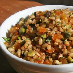 Your Vegan Thanksgiving: Spiced Wheat Berry Pilaf