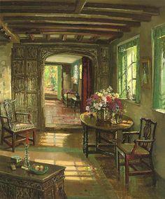 """dappledwithshadow: """" A Sunlit Interior, Herbert Davis Richter (1875-1955) """""""