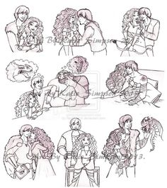Merida and Hiccup Sketch Dump by *Redhead-K on deviantART