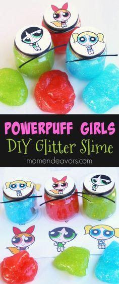 Powerpuff Girls Party Favor - DIY Glitter Slime. Make some Powerpuff Girls slime to celebrate #PowerpuffOnHulu. AD