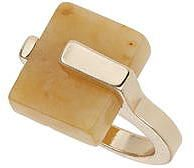 Womens corn yellow ring from Dorothy Perkins - £8.50 at ClothingByColour.com