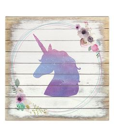 Another great find on #zulily! Unicorn Wreath Box Sign #zulilyfinds