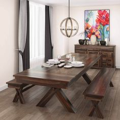 Provide a rustic and elegant look to your dining area with the Westside Rosewood 8 Piece Large Extensions Dining Room Set. This dining room set comes with a . Large Square Dining Table, 8 Seater Dining Table, Dining Table With Leaf, Solid Wood Dining Table, Dining Chairs, Dining Room, Sheesham Wood Furniture, Solid Wood Furniture, Decoration