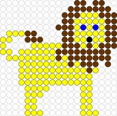 Samen naar de dierentuin De leukste kleuterklas van de wereld Perler Beads, Fuse Beads, Beaded Flowers Patterns, Beading Patterns, Easy Crafts For Kids, Diy For Kids, Cross Stitch Designs, Cross Stitch Patterns, Daniel And The Lions