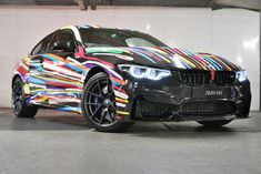 #bmw #bmwm #bmw #m4 #cs #art #car #luxury #pinterest #art Jeff Koons Art, 2010 Bmw M3, M 4, Black Sapphire, Le Mans, Luxury