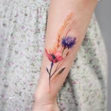 Image result for watercolor feather tattoo wrist