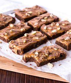 Snickers Fudge Brownies FoodBlogs.com