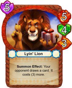Lyin' Lion - Catamancer - The 100% cat themed game! - Artist: Eric Proctor (TsaoShin)